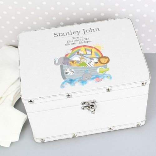 Noah's Ark White Leatherette Box